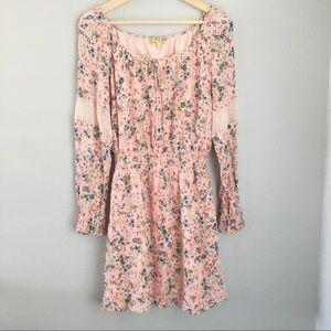 Princess Vera Wang | Pink Floral Boho Floral Dress